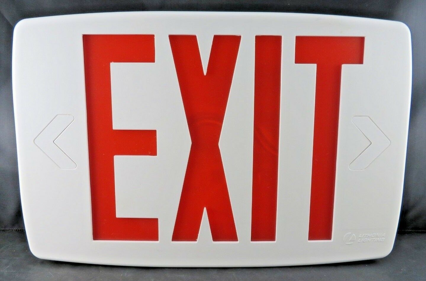 "Primary image for Lithonia Quantum Plastic White LED Emergency Exit Sign 11.75"" L"