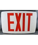 "Lithonia Quantum Plastic White LED Emergency Exit Sign 11.75"" L - $22.00"