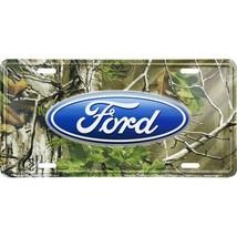ford real tree auto car motors logo metal license plate usa made - $28.49
