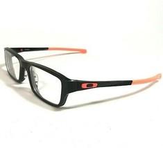 Oakley Chamfer OX8039-0751 Eyeglass Frames Rimmed Rectangular Black Neon Red 140 - $63.58