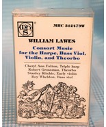 Willliam Lawes, Consort Music for the Harpe, Bass Viol, Violin, and Theo... - $6.36