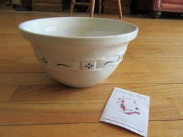 CL/LONGABERGER POTTERY/WOVEN TRADITIONS/LARGE BLUE MIXING BOWL/USA! - $69.25