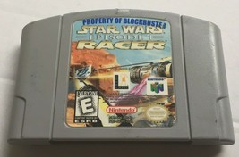 Star Wars Episode 1 Racer Nintendo 64 N64 OEM Authentic Video Game Original GOOD - $9.99