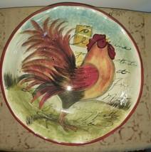 "Susan Winget Certified International 13"" Large Le Rooster Serving Bowl  - $22.28"