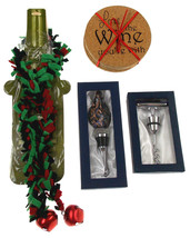 Wine Coaster Accessory Set of 7 Love Wine Bottle Decoration Corkscrew St... - $12.99