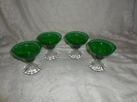"4 Anchor Hocking Forest Green Inspiration (Burple) 3.78"" Sherbet Champagne glass - $19.79"
