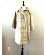 House of Hartwig Faux Fur Tan Coat Size Large Vintage 1960s  - $29.65
