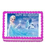 Frozen Elsa edible party cake topper decoration frosting sheet image - $7.80