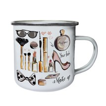 New Cosmetic Elements Collection Retro,Tin, Enamel 10oz Mug l193e - $13.13