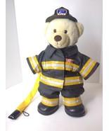 Build A Bear FDNY New York Fireman Firefigter Plush Stuffed Animal Doll ... - $59.39
