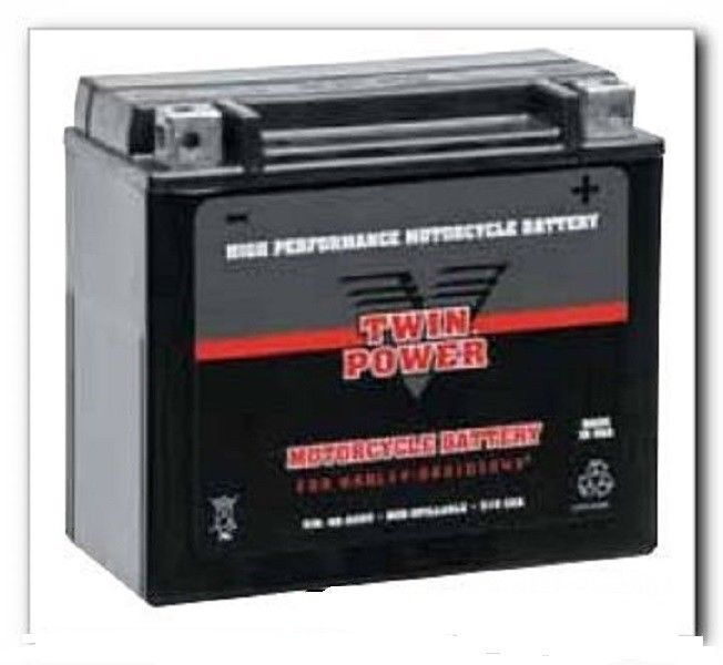 New Bikers Choice Twin Power AGM Battery 84-90 Softail Harley YTX20-BS, YB16-B