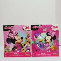 Cardinal Disney Junior Minnie Mouse 24 PC Lot of 2 Jigsaw Puzzles Ages 5... - $7.00