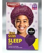 RED BY KISS KIDS SATIN SLEEP CAP#  HJ01 PURPLE PREVENT HAIR BREAKAGE - $1.97