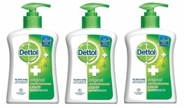 Dettol Original Liquid Soap Pump Hand Wash Against Of Germs 215 ml X 3 pack - $25.52