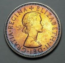 COLORFUL 1970 UNITED KINGDOM 1 SHILLING SCOTTISH SHIELD BU PROOF TONED U... - $49.49