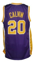 Mack Calvin #20 Denver Rockets Aba Basketball Jersey Sewn Purple Any Size image 2