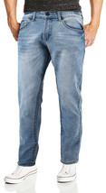 CS Men's Skinny Slim Fit Zip Fly Vintage Faded Wash Premium Denim Jeans image 2