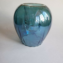 Teal Odyssey Candle Holder Hand-blown Glass Tealight Votive Partylite Gi... - $54.94