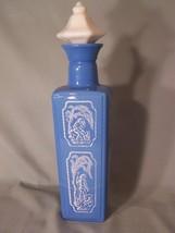 Jim Beam 1965 Blue/White Shepherd & Dog Decanter Cork Stopper approx 12.... - $17.10