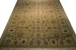 Honey Gold Wool Carpet 9' x 12' New Original Ziglar Oushak Hand-Knotted Rug image 1