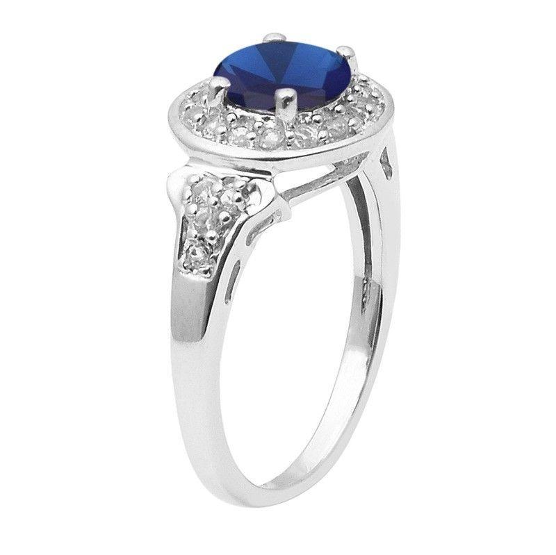 Women's Tanzanite Color Cz Sterling Silver Ring Shine Jewelry Size-7.5 SHRI1477
