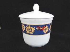 DISNEY Tigger w/ Sunflowers Ceramic Flower Lidded Jar Portugal - $24.74