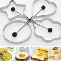 Bingirl Stainless Steel Pancake Mould Mold Ring Cooking Fried Egg Shaper... - $9.95
