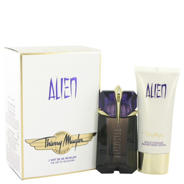 Thierry Mugler Alien 2.0 Oz EDP Spray + Body Lotion 3.4 Oz 2 Pcs Gift Set image 3
