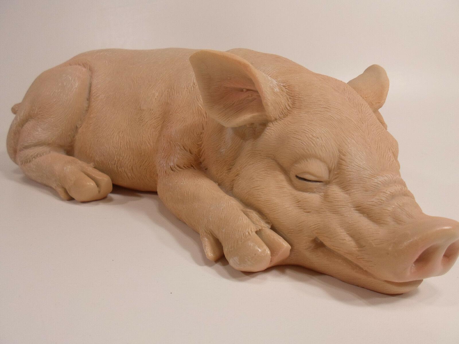 """14"""" PIGGY SLEEPING PIG STATUE DESIGN TOSCANO Garden Lawn Ornament Indoor Outdoor - $19.97"""