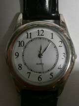 Quartz Analog Mens Watch, Silver-Tone | Vintage - $9.50