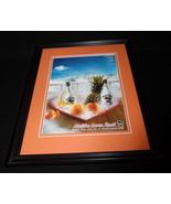 2000 Malibu Rum Framed 11x14 ORIGINAL Vintage Advertisement - $32.36