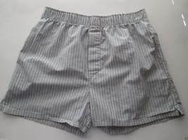 14th & UNION Stripes Cotton Woven Boxer Men' Shorts Pajamas White Blue M... - $6.20