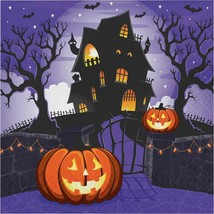 Haunted House Pumpkin Halloween 16 Ct Luncheon Napkins - $3.29