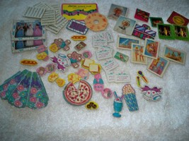 Vintage 80s Barbie Collectables Over 60 Cardboard Posters Music Photos A... - $19.75