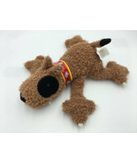 Manhattan Toy Brown Black Red Collar Plush Puppy Dog Spike Claws Scruffy... - $24.99