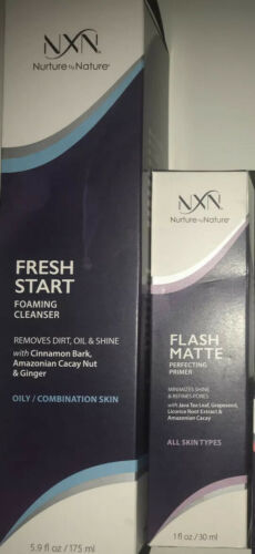 Primary image for NXN Nurture by Nature Flash Matte Primer + Fresh Start Foaming Cleanser Lot Of 2