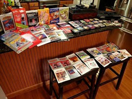 Vintage Atari 2600 Games Console W/22 Games Manuals Boxes Storage Case Lot WOW! - $376.19