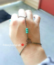 Slave Bracelet Turquoise Glass Beads Hand Chain Bohemian Hand Chain Anti... - $42.00