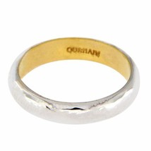 Auth GURHAN 18K White Gold & 24K Yellow Gold Galahad  Band Ring Size 6.5 »$1750 - $650.07