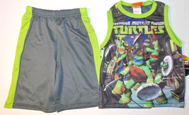 Teenage Mutant Ninja Turtles Boys 2pc Tank Top & Shorts Outfit Sizes 4 o... - $10.39