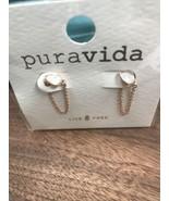 Pura Vida Earrings NIP Chain Ear Wrap Exclusive Jewlery Club  - $16.82