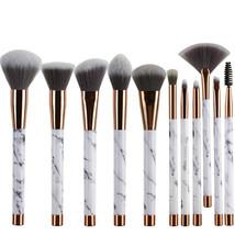 BBL® 11pcs/set +leather Bag Marble Handle Makeup Brushes Foundation Powder - €33,14 EUR