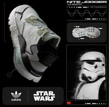 Adidas Nite Jogger Star Wars Storm Trooper Boost Shoes Sneaker White Siz... - $74.79