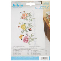 "Janlynn Stamped Cross Stitch Pillowcase Pair 20""X30""-Rose Garden - $17.02"