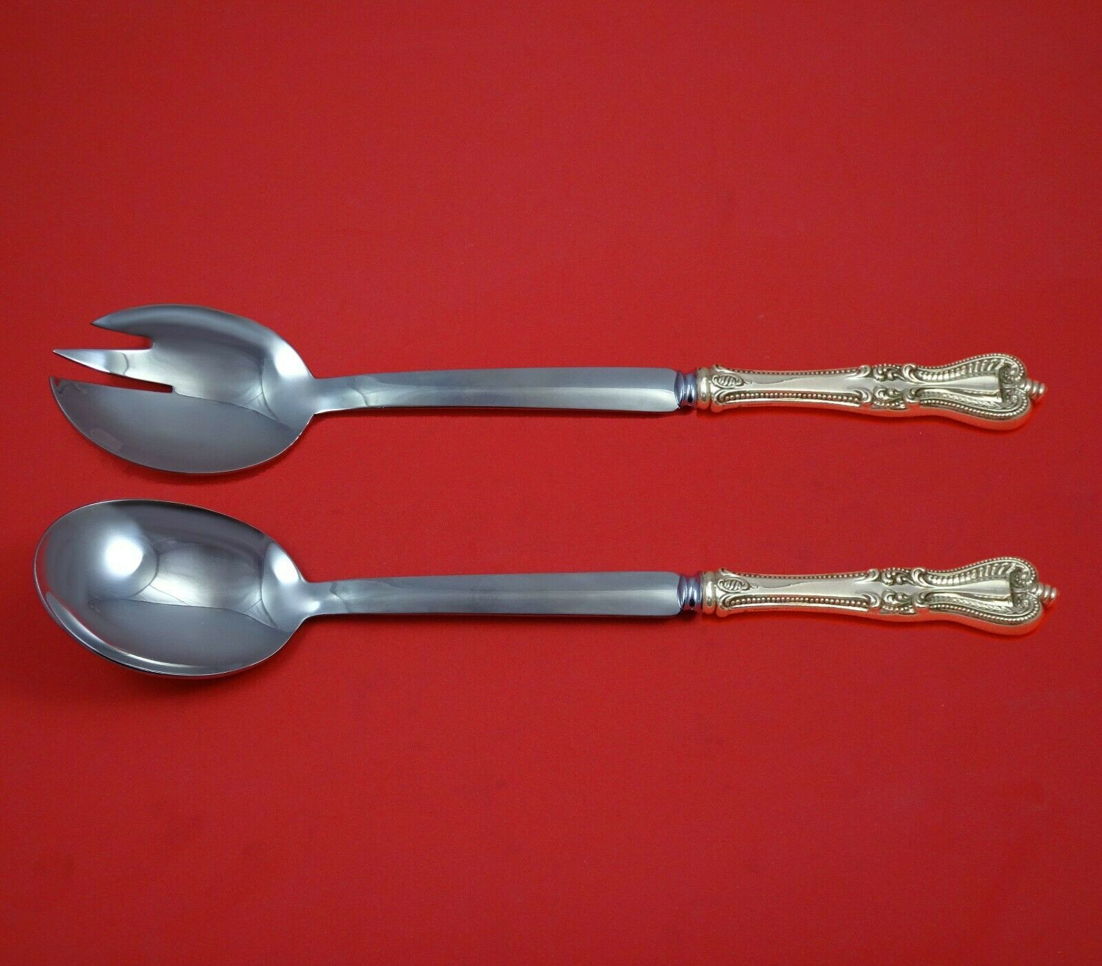 Primary image for Old Colonial by Towle Sterling Silver Salad Serving Set Modern Custom 10 1/2""