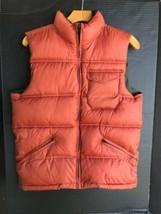 Gap Kids Puffer Vest Boys Size XXL (14-16) Rust Orange & Forest Green Full Zip - $24.00