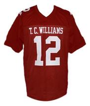 Sunshine Bass Remember The Titans Movie New Men Football Jersey Maroon Any Size image 1
