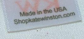 Kate Winston Brand Brown Burlap Monogram Black And White D Garden Flag image 5