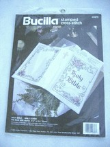 VTG Bucilla Holy Bible Cover Cross Stitch Kit 40876 NIP Church Wedding Gift - $19.95