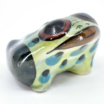 Ceramic Hand Painted Toad Frog Toothpick Holder Table Decor Handmade Guatemala